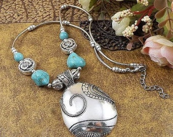 Turquoise & Tibetan Silver Necklaces