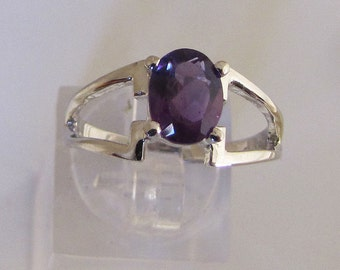 Ring Silver 925/1000 Amethyst size 55. 25% with code: SOLD17