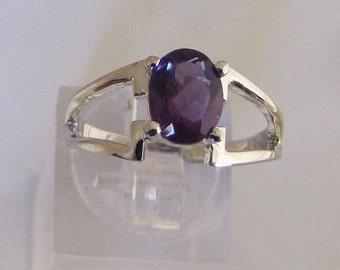 Ring Silver 925/1000 Amethyst size 55