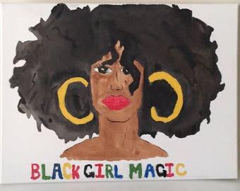 Black Girl Magic Wall Art | African American Art | Wall Art | Painting