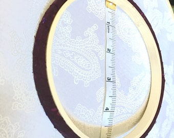 Hand Wrapped Hoop - 5 inch Plum