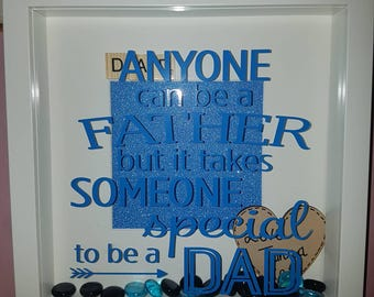Fathers box frame/ personalised mens/ gifts for him/ gifts for dads/ birthday for him/