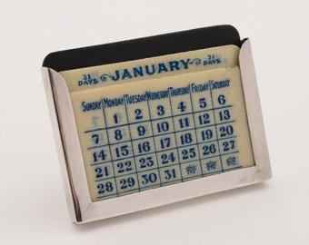 Small Silver Calendar, Chester 1924