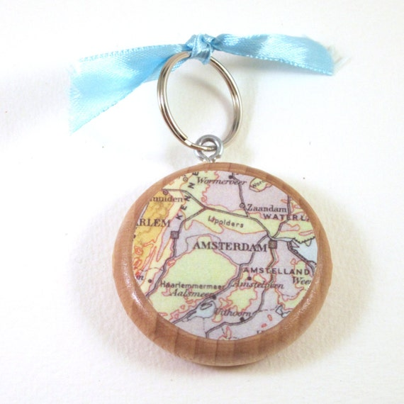 World map keychain Europe variations