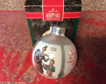 Hallmark Norman Rockwell Art ornament