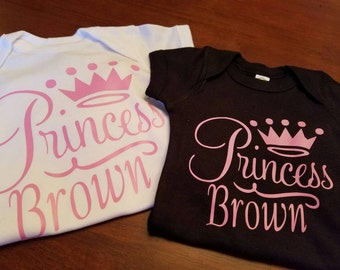 Personalized Princess Baby Girl Onesie