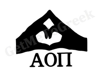 Alpha Omicron Pi Hand Sign Decal