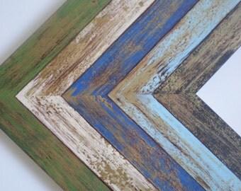 """Picture frame 13x19"""" photo frame gold frame distressed frame 33x48cm wood frame crafts frame rustic frame shabby chic frame chicframeshop"""
