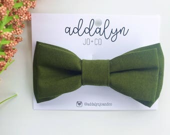 Bentley Bow Tie|Olive Green clip on bow tie