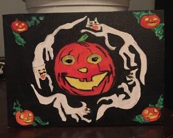 Vintage style halloween painting