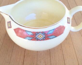 WS George Cavitt Shaw iroquois pattern creamer southwest/ Native American style boho