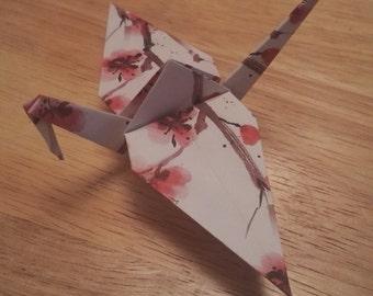 20 Origami Crane Wedding Favors Pink Flowers J1/47