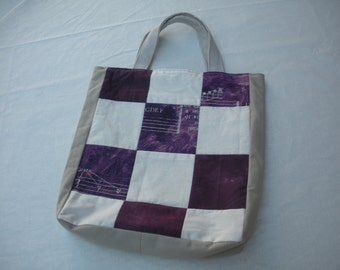 Purple Patchwork Music Tote