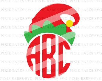 Elf Hat SVG, Elf SVG, Christmas svg, Fall svg, Santa Hat svg, Holiday svg, Monogram svg, Cricut svg, Silhouette svg, svg Cutting Files