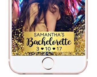 Custom Gold Foil Bachelorette Snapchat Geofilter, Birthday Snapchat Filter