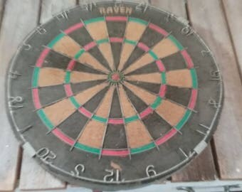 Vintage Dart Board/Old Dart Board/Raven Dart Board/England Dart Board/Dart Boards/
