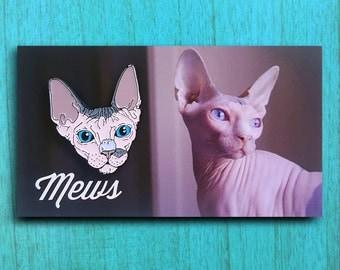 Mews - Sphynx Cat Enamel Pin