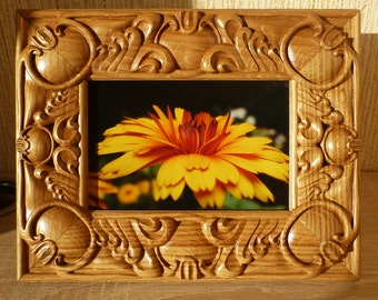 Wooden Photoframe Russian Baroque Wood Carving Oak Birthday Mother's  Day Wedding Gifts