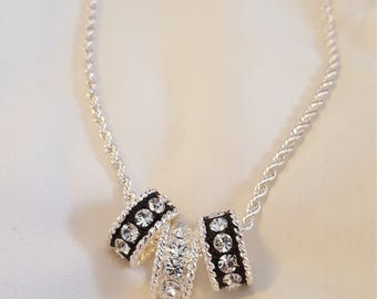Beautiful Silver and Black Necklace