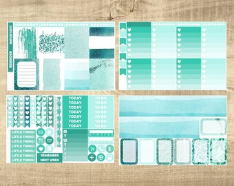 Mint Madness 4 Page Weekly Kit for Erin Condren Vertical LifePlanner