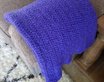 baby blanket, baby afghan, purple