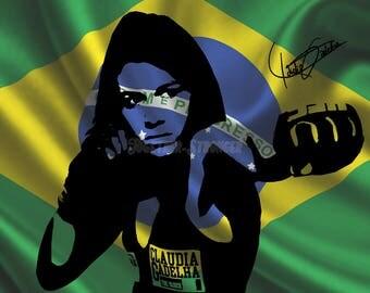 Cláudia Gadelha pre signed photo print poster - 12x8 inches (30cm x 20cm) - Superb quality