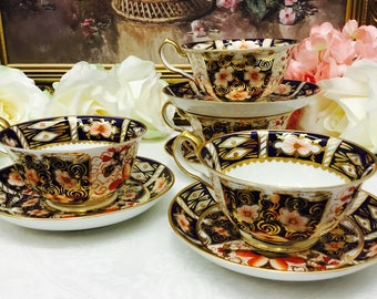 Royal Crown Derby Imari teacup and saucer circa 1920's