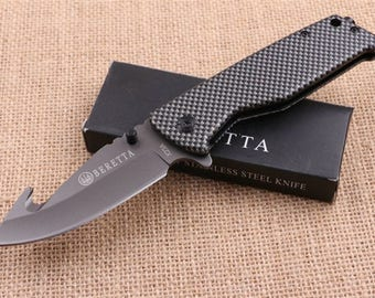 BERETTA steel sleeve 9 cm blade survival knife resin 11 cm Outdoor