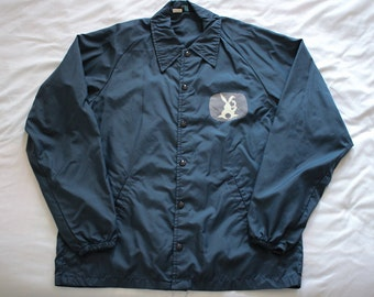 Vintage 1978 Easter Seals Telethon windbreaker printed on 60s Coaches Jacket by Champion Products inc. Size M Rare