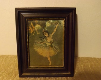 Vintage table painting on fabrics ballerina dancer