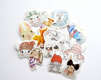 Kawaii Rabbit Sticker Flakes