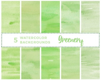 Watercolor Greenery Clipart, Greenery Watercolour Background, Abstract Ombre, Watercolor Wedding Invitation Card, Digital Printable Paper