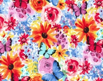 Garden Party Big Bang Blooms Fabric by Michael Miller