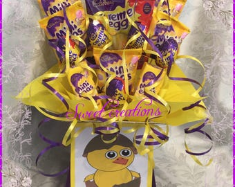 mini eggs and creme egg chocolate bouquet Easter