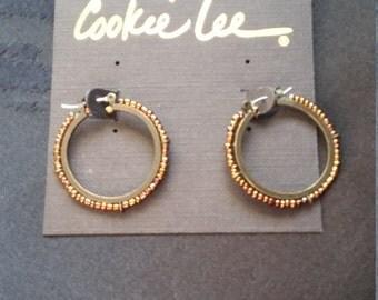 Cookie Lee hoop earrings