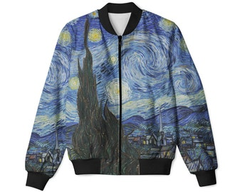 Starry Night By Vincent Van Gogh - Men's Women's bomber jacket | bomber full print all sizes