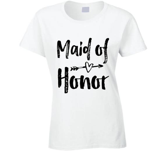 Maid Of Honor Arrow Hearts T-shirt, Maid Of Honor Shirt, Maid Of Honor, Bridal Party Bridesmaid Shirt,matron Of Honor Shirt.