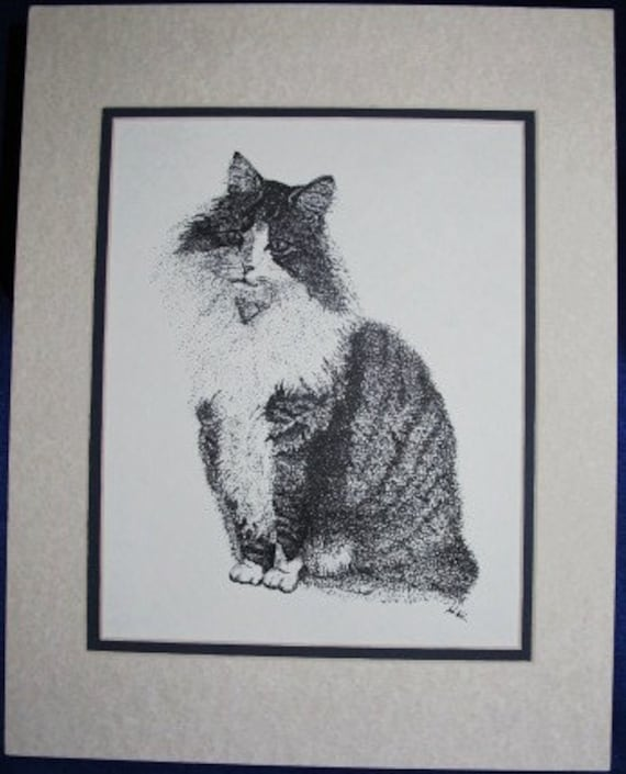 Ladyclaws: Limited pre-matted prints. Framing size 11x13