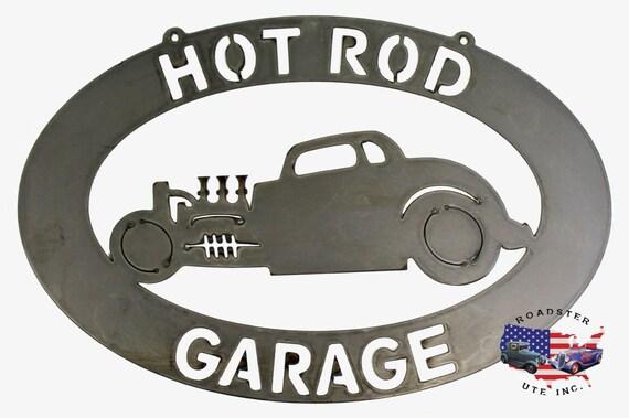 Hot Rod Garage - Plasma Cut Metal Shop Sign