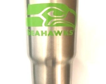 Seattle Seahawks Decal Sticker For Yeti RTIC Rambler Tumbler Coldster Beer Mug