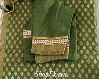 Indian/Pakistani Ethnic Ready To Wear Benares Saree with Designer work blouse