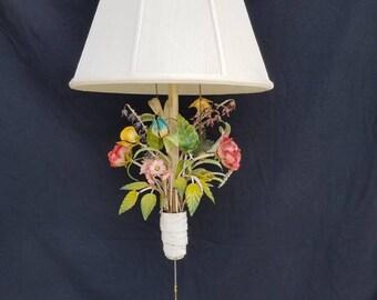 Vintage Marbro Italian Tole Wall Hung Lamp