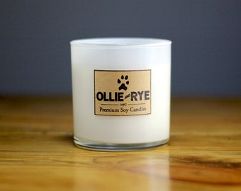 Black Amber and Lavender | Soy Candle | 10oz White Jar