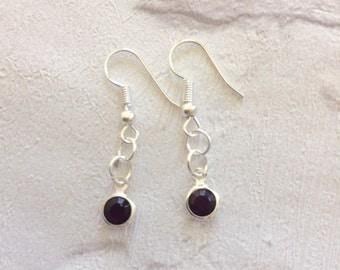 Amethyst Earrings, February  Birthstone Earrings, Silver Earrings, Dangle Drop Earrings, February Birthday Gift, Purple Earrings, Amethysts.