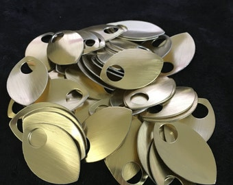 50 Large aluminum scales - champagne