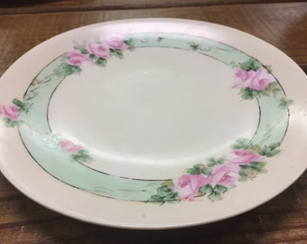Hand-painted German Saucer
