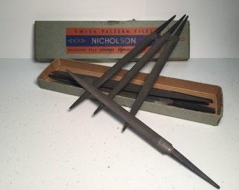 Vintage Nicholson Swiss Pattern Files - no. 4