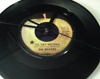 The Beatles 45 Record Clock - I'll Cry Instead