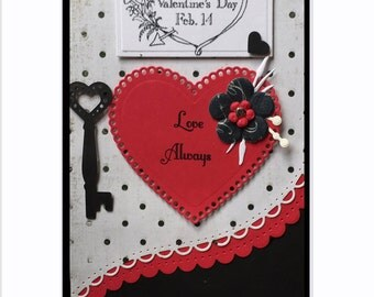 Valentines Day Card - Unique Valentine Card - Anniversary Card -  Love Card - Key to My Heart - I Love You - Romantic Card - Someone Special