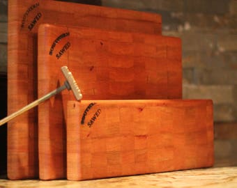 Cherry End Grain Cutting Boards (set)